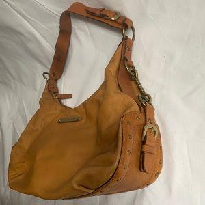 Michael Kors Brown Leather Vintage boho purse bag